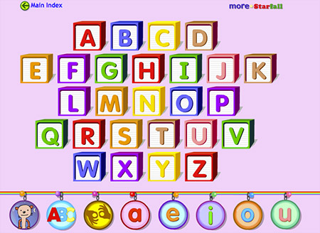 Play and explore Starfall's ABCs!
