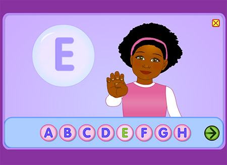 Practice sign language with Starfall!