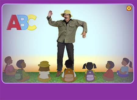 Wow, that's a silly man singing the ABCs!