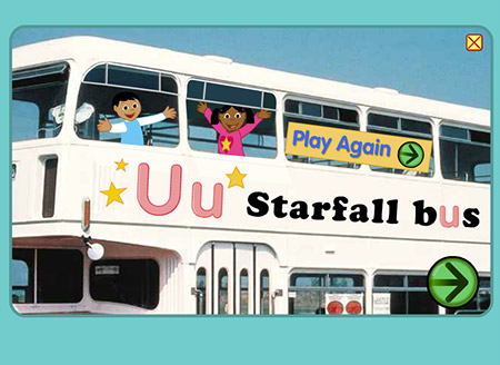 Wouldn't it be cool to take a ride on the Starfall bus!