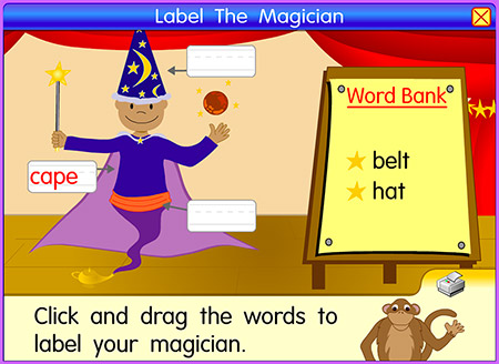 Use your own magic skills to label your magician's clothes!