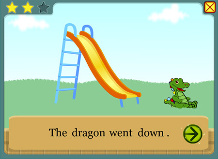 Watch Dragon go up and down after you solve each puzzle.
