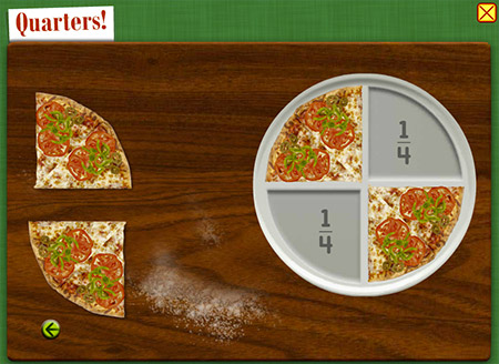 No better way to learn fractions than with pizza!