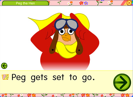 Get set to go with Peg the Hen!