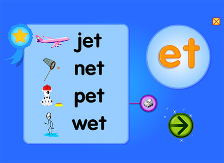 Hold on to your pET! Let's make words with -et!