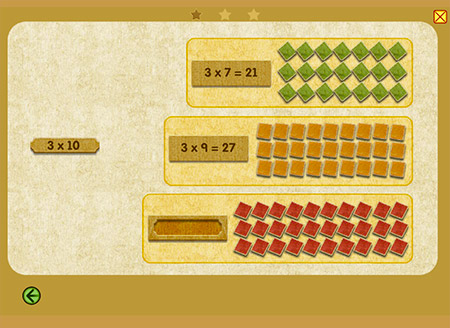A great way to show grouped addition associated with its multiplication express!