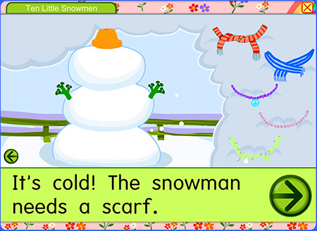 Use your creativity to decorate a snowman!