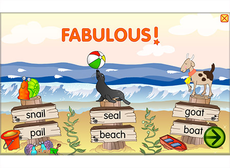 Hit the beach with long-vowel words!