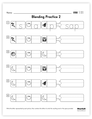 Blending Practice 2 worksheet
