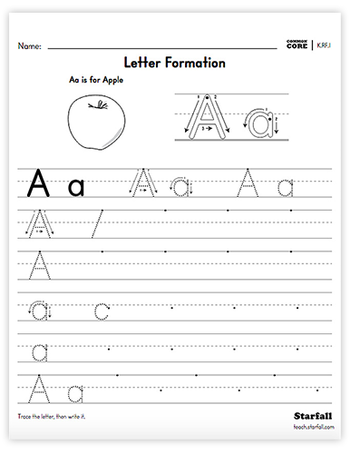 Letter Formation worksheet