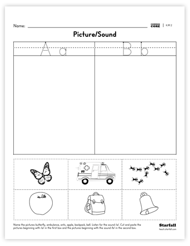 Picture/Sound worksheet