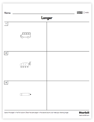 Draw worksheet