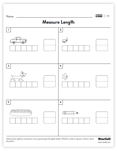 Measure worksheet