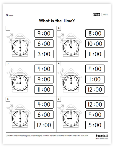 What is the Time worksheet
