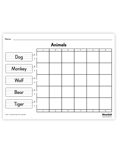 Word Graph worksheet