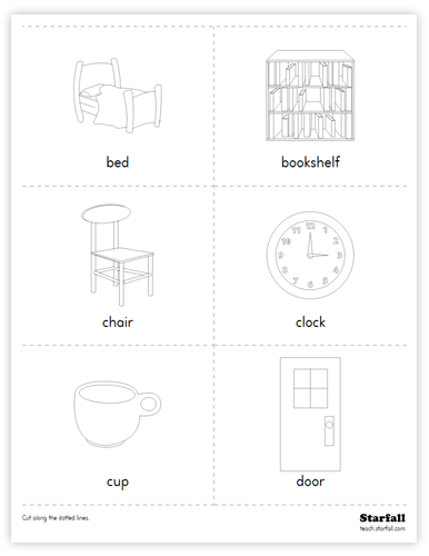 Household Items Cards worksheet