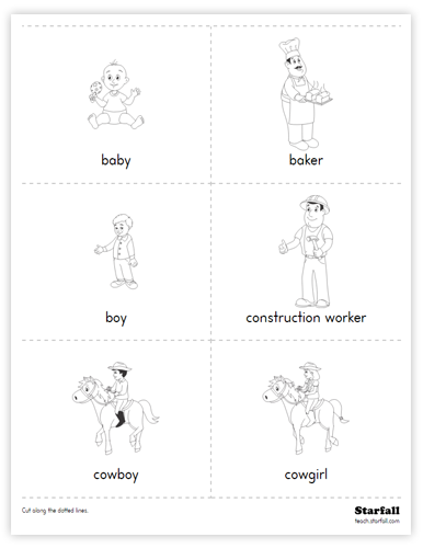 People Cards worksheet