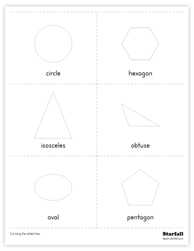 Shapes Cards worksheet