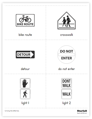 Safety Signs Cards worksheet